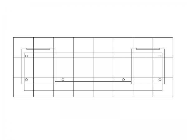ECO-42C Sustainable Backlit Counter -- Plan View